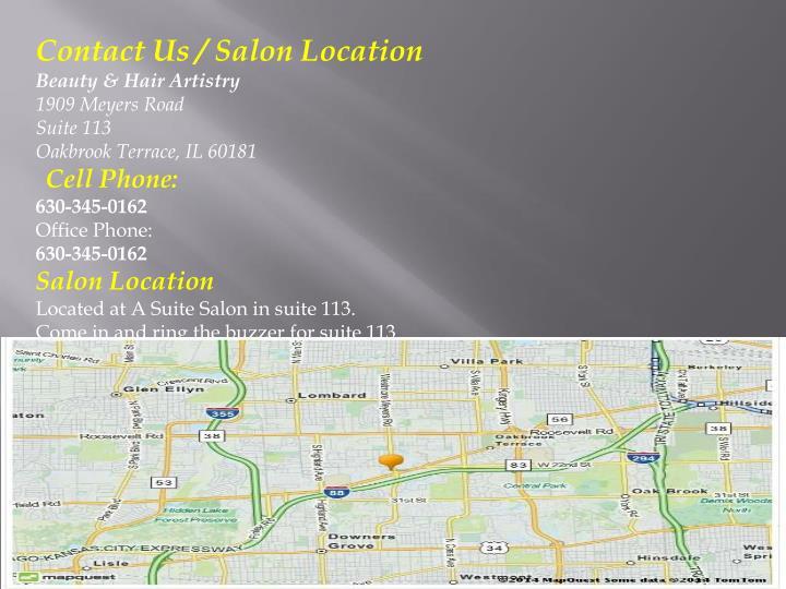 Contact Us / Salon Location