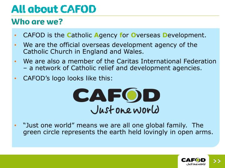 Programme Officer at Catholic Agency For Overseas Development - CAFOD