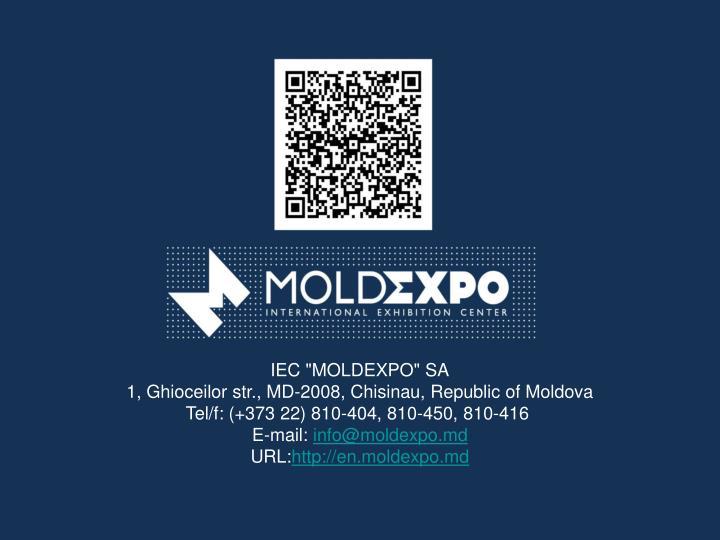 """IEC """"MOLDEXPO"""" SA"""