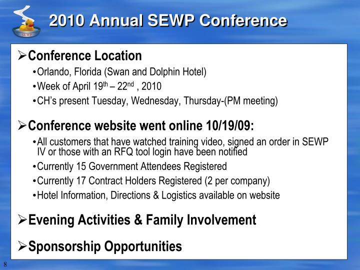2010 Annual SEWP Conference