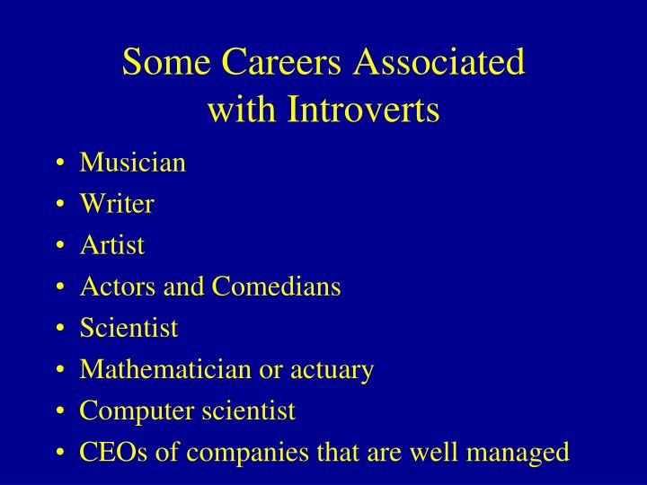 Some Careers Associated