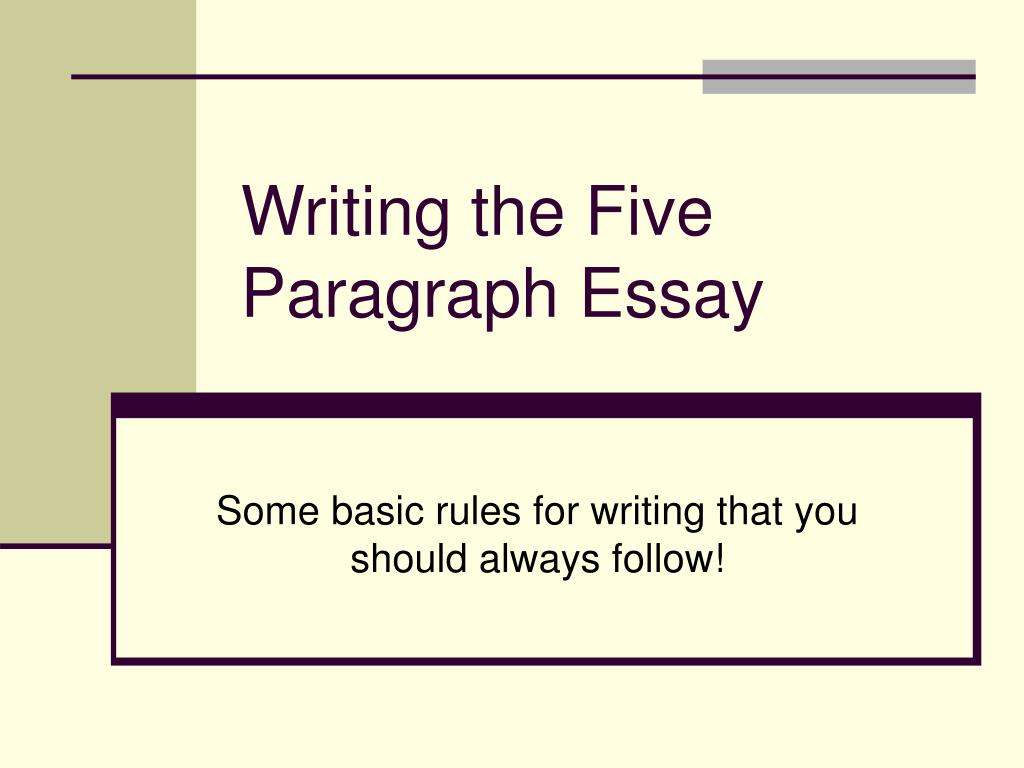 The three basic parts of an essay in order are the paragraph the and the