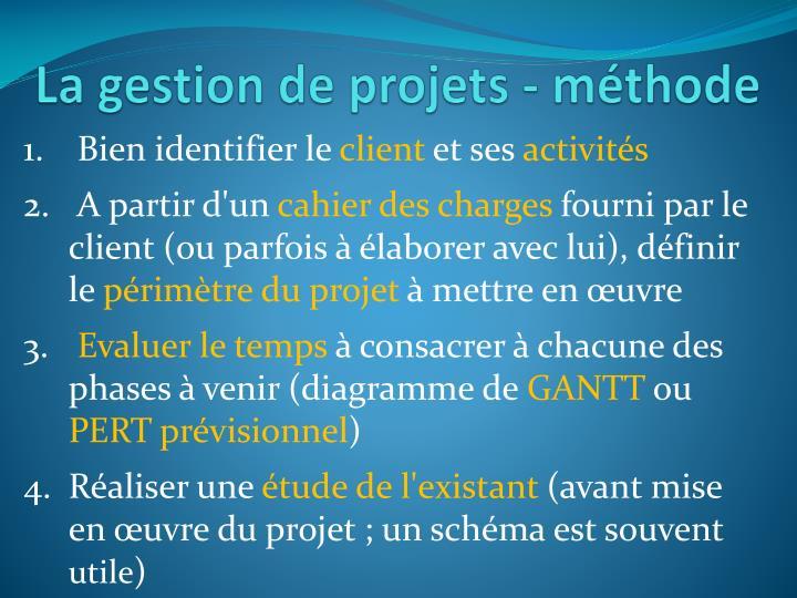 La gestion de projets m thode