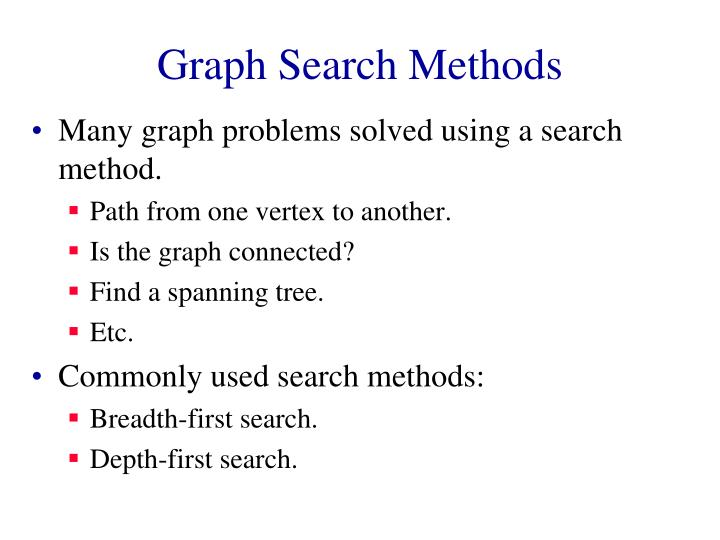 Graph search methods2