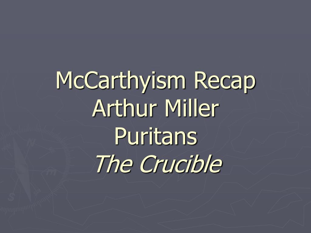 how is the crucible an allegory for mccarthyism