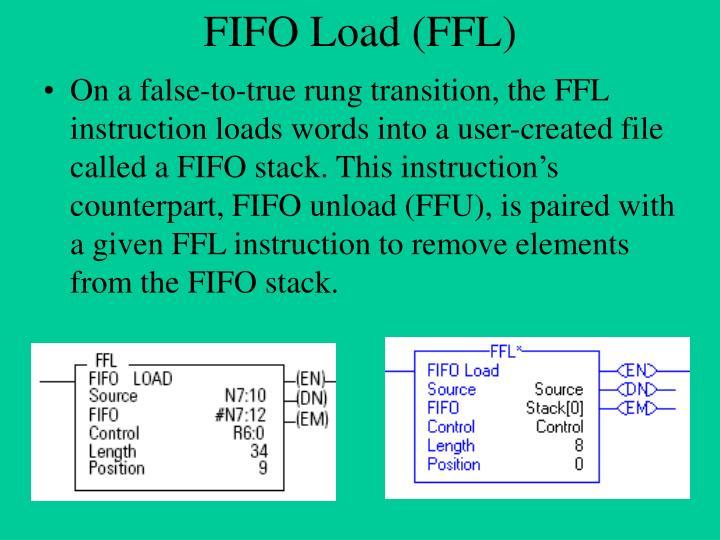 Fifo load ffl