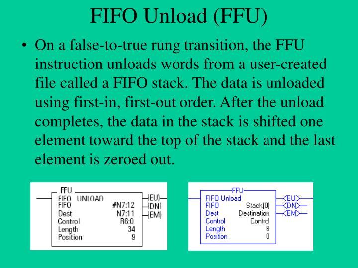 Fifo unload ffu