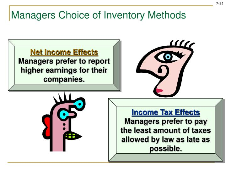 Managers Choice of Inventory Methods