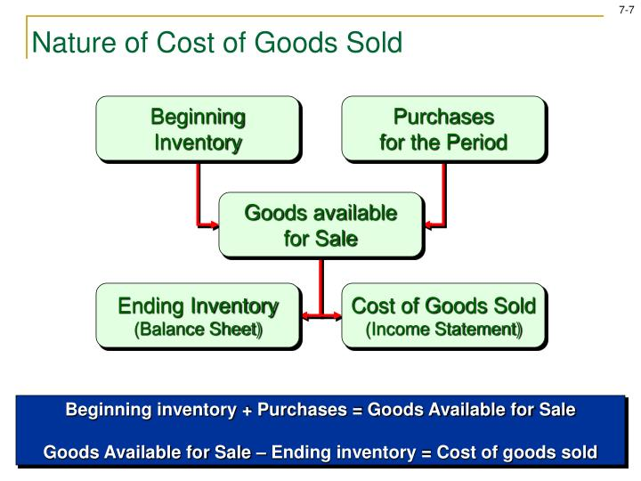 Nature of Cost of Goods Sold