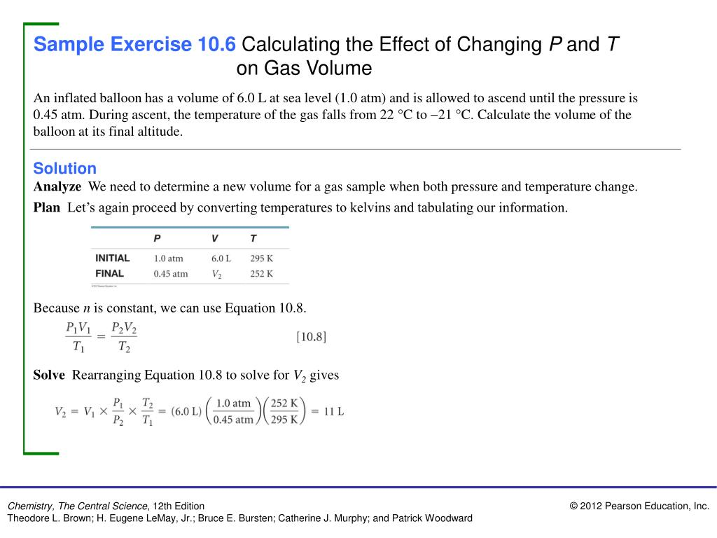 PPT - Sample Exercise 10 1 Converting Pressure Units PowerPoint