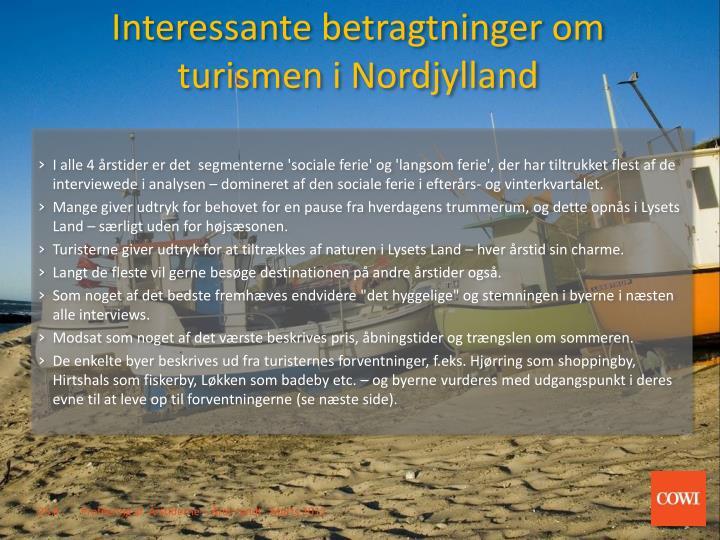 Interessante betragtninger om turismen i Nordjylland
