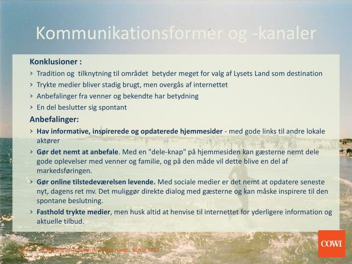 Kommunikationsformer og -kanaler