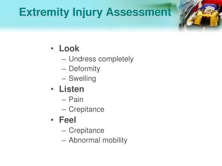 Extremity Injury Assessment