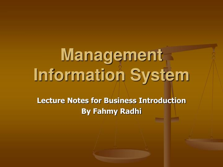 management information system n.