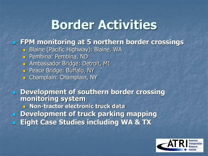 Border Activities