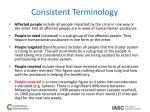 consistent terminology