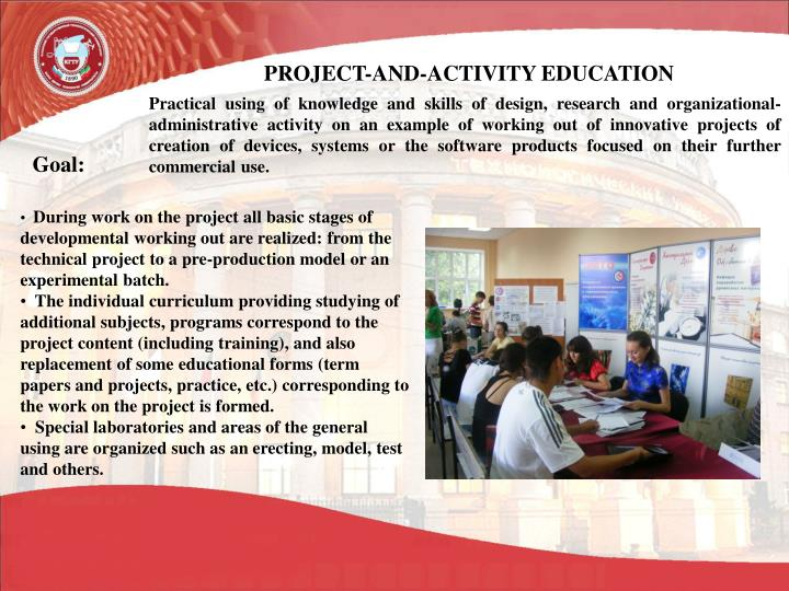 PROJECT-AND-ACTIVITY EDUCATION