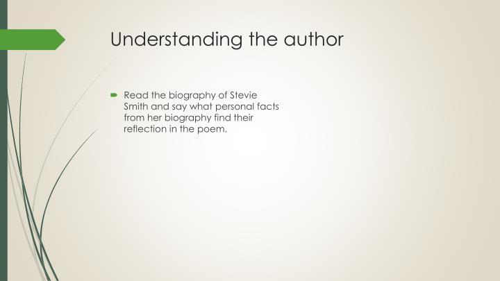 Understanding the author