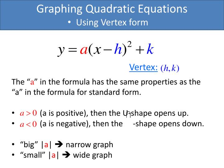 Ppt Graphing Quadratic Equations Powerpoint Presentation Id6220041