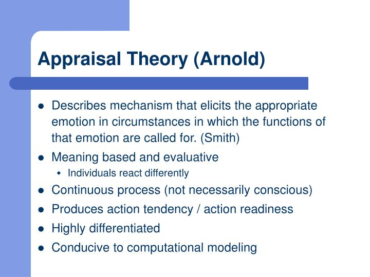 Appraisal Theory (Arnold)