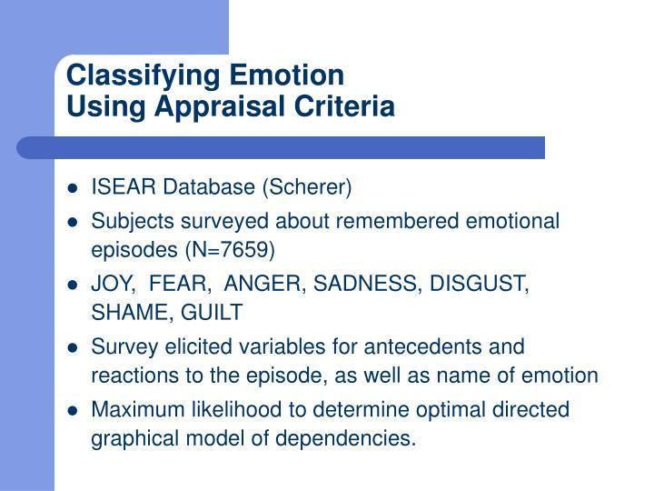 Classifying Emotion