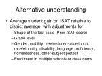 alternative understanding