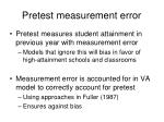 pretest measurement error