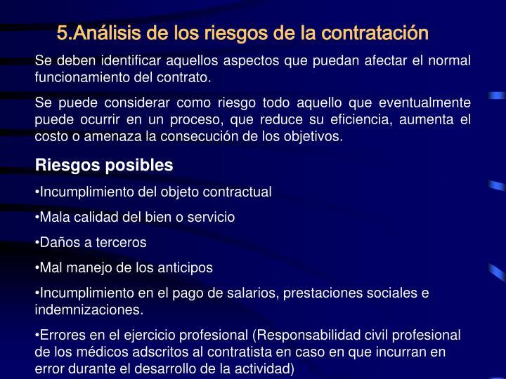 5.Análisis de los riesgos de la contratación