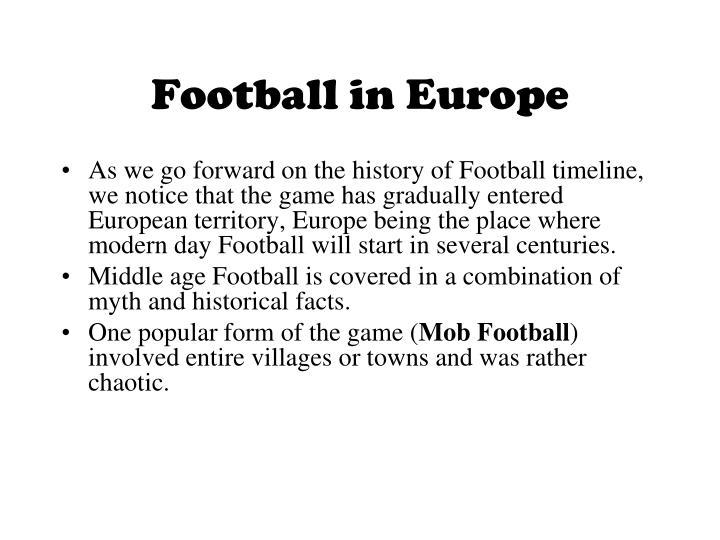 Football in Europe