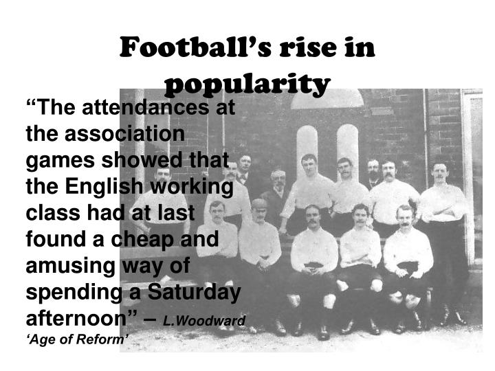 Football's rise in popularity