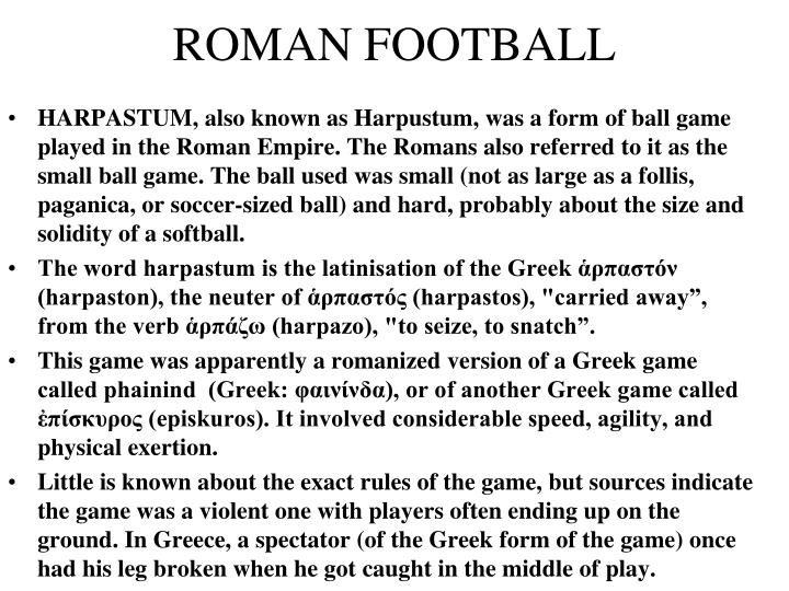 ROMAN FOOTBALL
