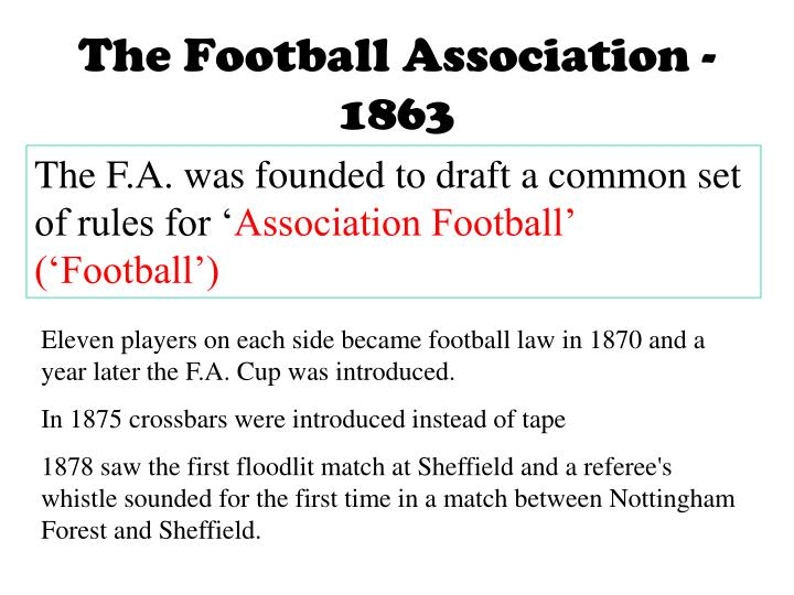 The Football Association - 1863