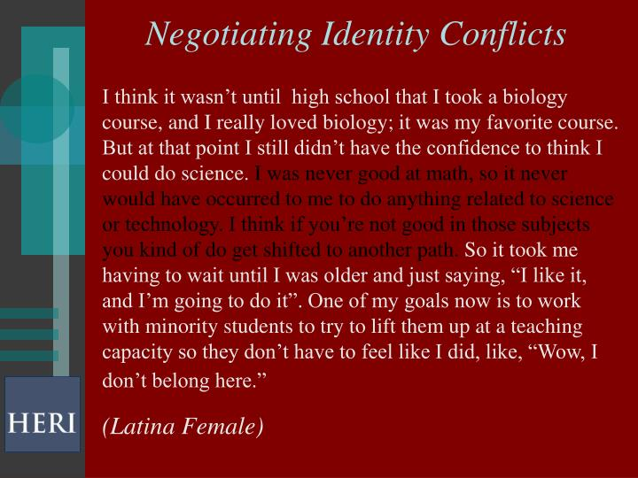 Negotiating Identity Conflicts