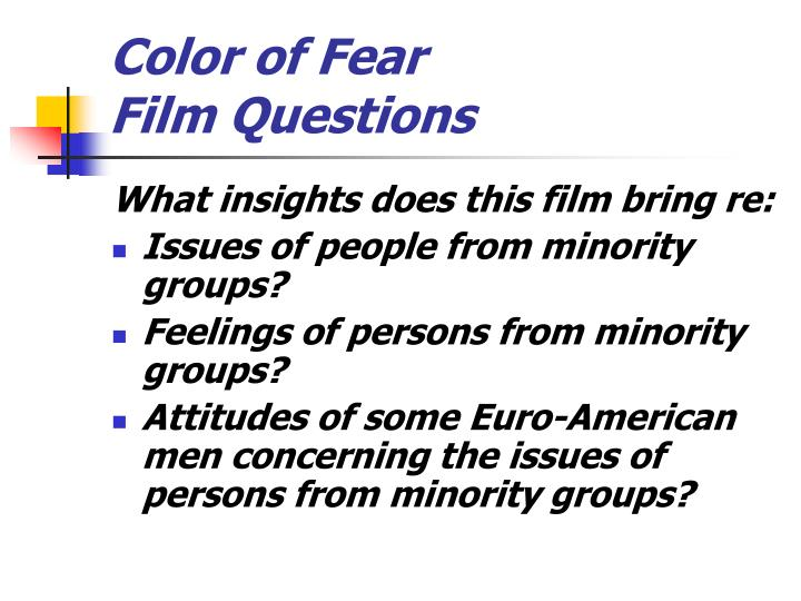 color of fear film questions n.