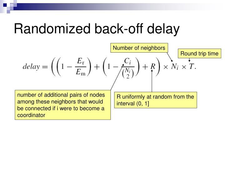 Randomized back-off delay