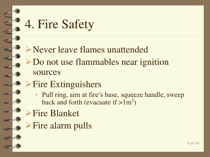 4. Fire Safety