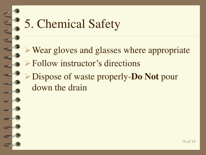 5. Chemical Safety