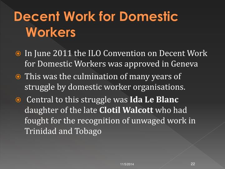 Decent Work for Domestic Workers