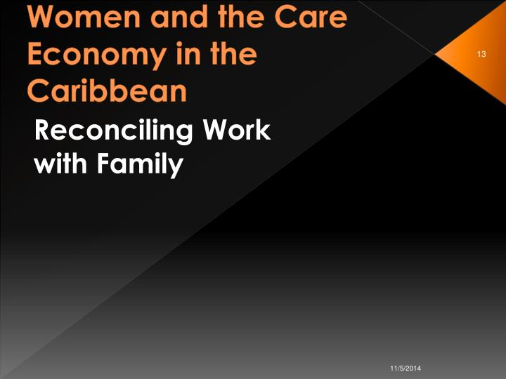 Women and the Care Economy in the Caribbean