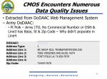 cmos encounters numerous data quality issues6