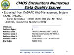 cmos encounters numerous data quality issues7