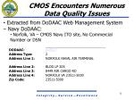 cmos encounters numerous data quality issues8