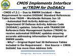 cmos implements interface w trdm for dodaacs