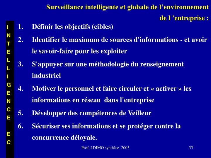 Surveillance intelligente et globale de l'environnement