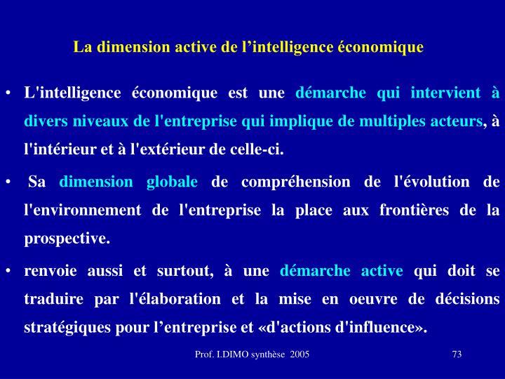 La dimension active de l'intelligence économique