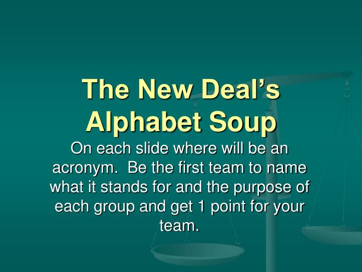 the new deal s alphabet soup n.