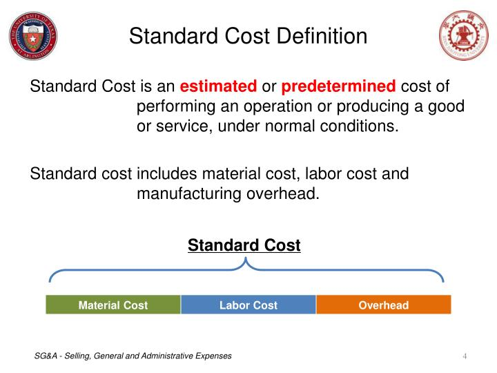 Standard Cost Definition