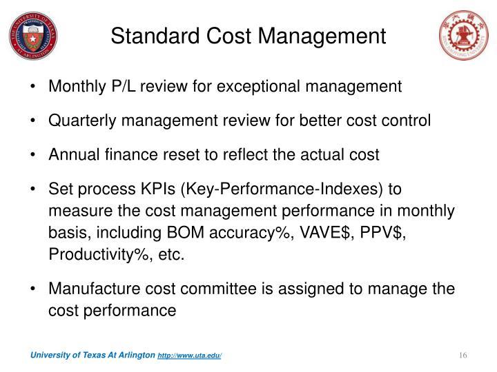 Standard Cost Management