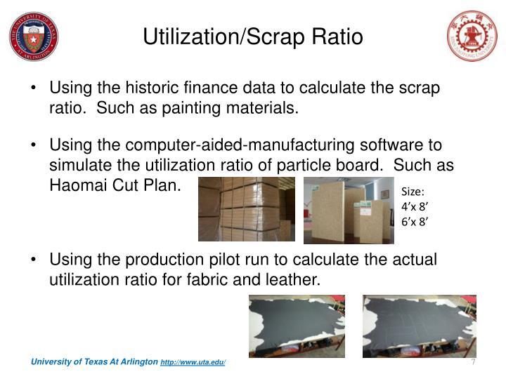 Utilization/Scrap Ratio