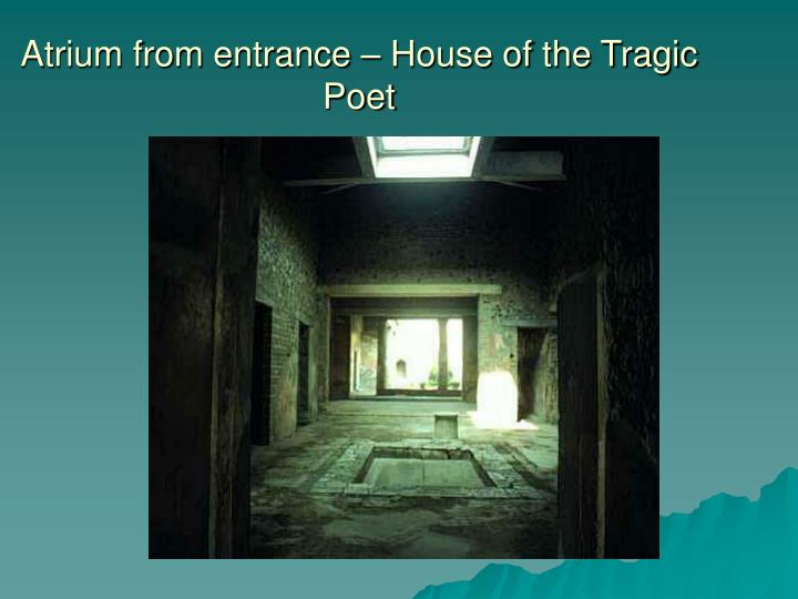 Atrium from entrance – House of the Tragic Poet